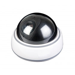 Cámara de vigilancia simulada de cúpula con indicador LED. Mod. CAM174