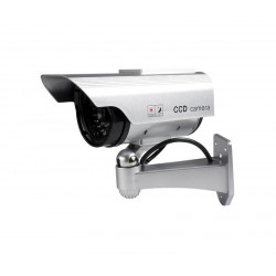 Cámara de vigilancia simulada de exterior con indicador LED. Mod. CAM175