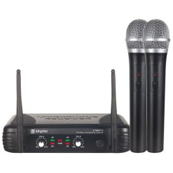 Microfono Inalambrico doble de Mano VHF SkyTec. Mod. STWM-712
