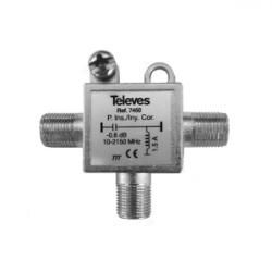 Inyector de corriente para alientación de LNB TELEVES. Mod. 7450