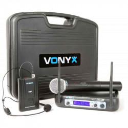 Micrófono Inalámbrico Doble VONYX WM512C. MOD. 179.223