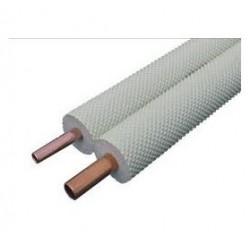 Tubo cobre aislado bi-polar 1/4 + 3/8 20 metros. Mod. 468.02.0324