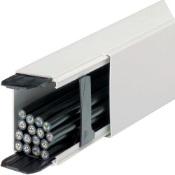 Canal de distribución LF PVC de 60x110 mm blanco 2 metros. Mod. FF6011009010