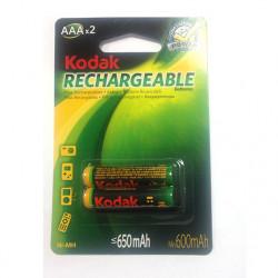 PILA KODAK RECARGABLE AAA 650mAh 1,2V BP2 (HR03) UNIDAD. Mod. K3AHR-2