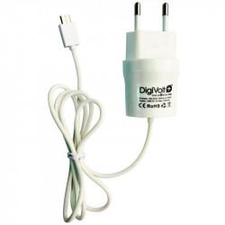 CARGADOR ADAPTADOR CASA MICRO USB 1000mA DIGIVOLT. Mod. QC-2404