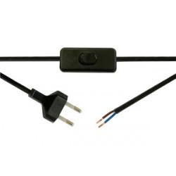 Interruptor bipolar con 2 m cable 2A/250V Electro DH. Mod. 11.578/N