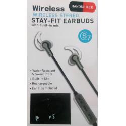 Auricular wireless negro con micro. Mod. SD-5103