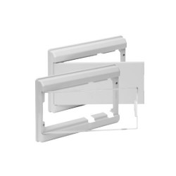Marco y puerta blancos para caja de ICP y distribución Solera. Mod. 5213B
