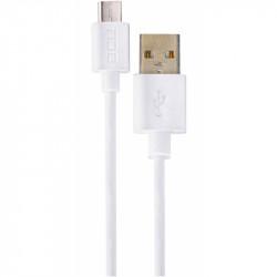 Conexión USB A - Micro USB blanco 1 metro. Mod. 30401225