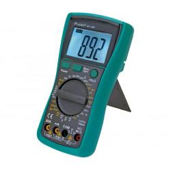 Multímetro digital de 3 1/2 dígitos CAT III 1000V. Mod. MT-1280