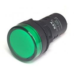 Piloto led verde 24Vca/Vcc IP65.Mod. L600V24V