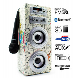 Torre múscica JoyBox Karaoke Guitar USB BLUETHOOTH. Mod. JOYBOXGUITAR