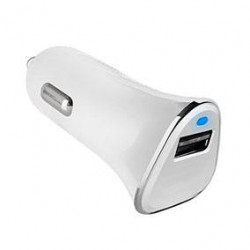 Cargador Coche USB Qualcom Quick Charge 3.0 Blanco. Mod. 51698