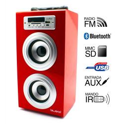 Torre música reproductor USB Bluethooth. Mod. 50601