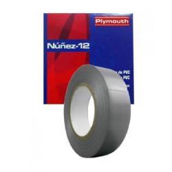 CINTA AISLANTE NUÑEZ 20X25 mm GRIS. Mod. NUÑEZ1220x25G