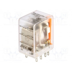 Relé electromagnético DPDT 12VCC 2x10A/250VAC. Mod. DRM270012