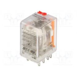 Relé electromagnético 4PDT 24VAC 4x5A/250VAC. Mod. DRM570524
