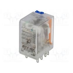 Relé electromagnético 4PDT 24VDC 4x5A/250VAC. Mod. DRM570024