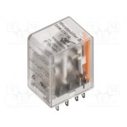 Relé electromagnético 4PDT 12VDC 4x5A/250VAC. Mod. DRM570012