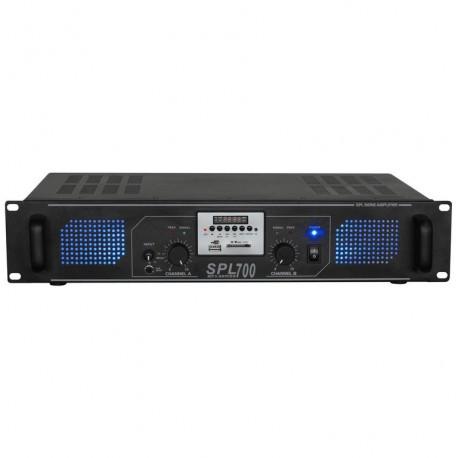 SPL700MP3 Amplificador 2x 350W EQ Negro