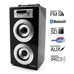 Torre música reproductor USB Bluethooth negro Joybox. Mod. 50600