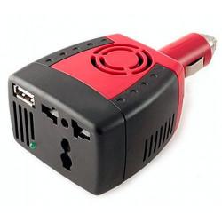 Inversor convertidor USB 12V / 220V 150W coche. Mod. DY-150