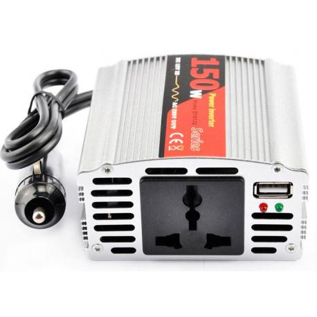 Inversor convertidor USB 12V / 220V 150W. Mod. DY-8102