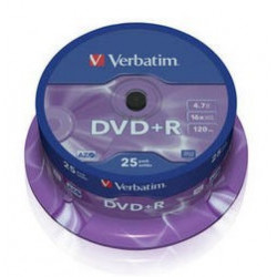 Tarrina DVD+R Verbatim 25 unds. Mod. 0701-02