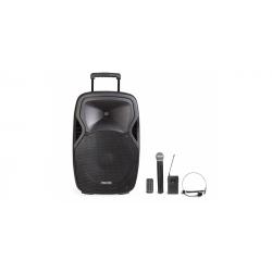 Altavoz activo portatil trolley batería FONESTAR. Mod. MALIBU-215P