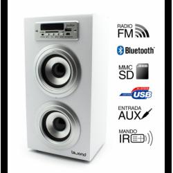 Torre música reproductor USB Bluethooth blanco Joybox. Mod. 50598