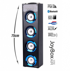 Torre música JoyBox Serie Air blue WH BLUETHOOTH. Mod. JOYBOXAIRBLUE