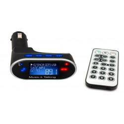 Reproductor MP3 USB/MicroSD + Transmisor FM BLUETOOTH Coche. Mod. 630C