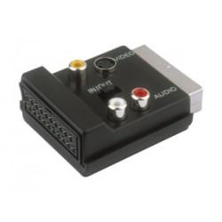 Adaptador euroconector macho hembra + 3 RCA. Mod 36.480/CR