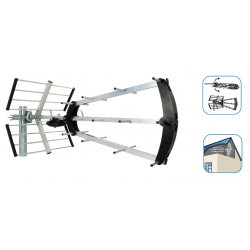 Antena exterior UHF TRINAPPE LTE 20dB Metronic. Mod. 415047