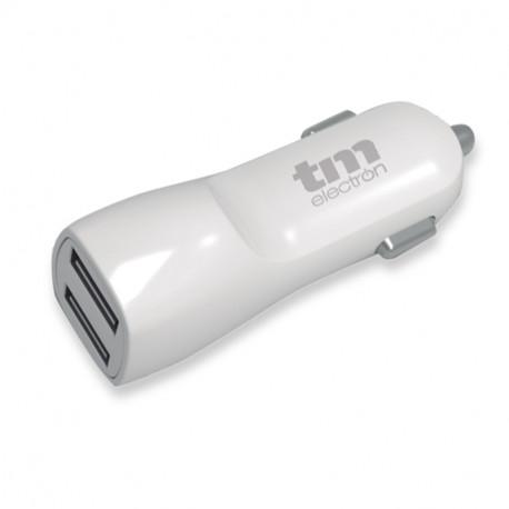 Cargador USB coche dual Mod. TMUAD102WH