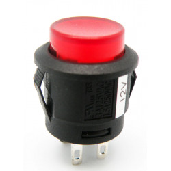 PULSADOR LUMINOSO INTERRUPTOR ON-OFF, 4P. 12V, Ø 15mm COLOR ROJO. MOD. 3617R