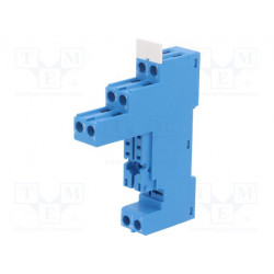 Soporte PIN8 8A 250VCA Montaje DIN agarres de tornillo. Mod. Mod. 97.02