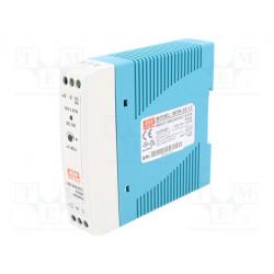 Alimentador por impulso 20W 12VCC 1,67A 85÷264VCA 120÷370VCC. Mod. MDR-20-12
