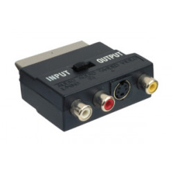Adaptador euroconector macho a 3 RCA. Mod 37.404