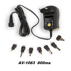 Alimentador Avant Adaptador Unviversal 600mA. Mod. AV-1063