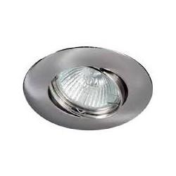 Aro empotrable aluminio oscilante redondo 50 mm Niquel. Mod. 308NK