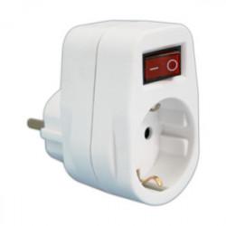 Adaptador 1 toma con interruptor Mod 36.082