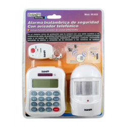 Alarma seguridad inalámbrica + avisador Mod 50.622