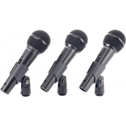 Conjunto 3 micro ultravoice Behringer. Mod. XM1800S