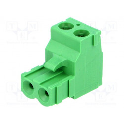 Bloque de bornas desmontable R.de contactores:5,08mm vías:2. Mod. TBW-5-AMP-2P
