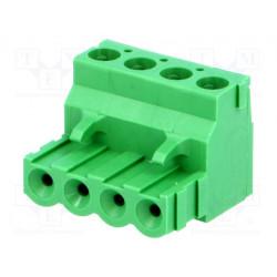 Bloque de bornas desmontable R.de contactores:5,08mm vías:4. Mod. TBW-5-AMP-4P