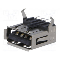 Conector hembra USB A SMT horizontales. Mod. USBA-G-SMD