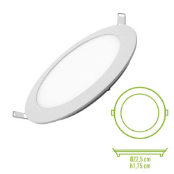 Downlight LED 18W 4500K redondo empotrar blanco Mod. 201800NW