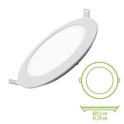 Downlight LED 18W 4500K redondo empotrar blanco Mod. 201800NW