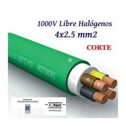Manguera cable 4x2.5 mm2 libre halógenos RZ1-K. Mod. LH4X2.5